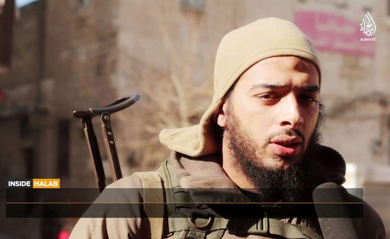 Salim Benghalem in een IS-video. Beeld AFP