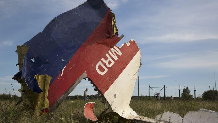 Een brokstuk van de MH17. Beeld ap