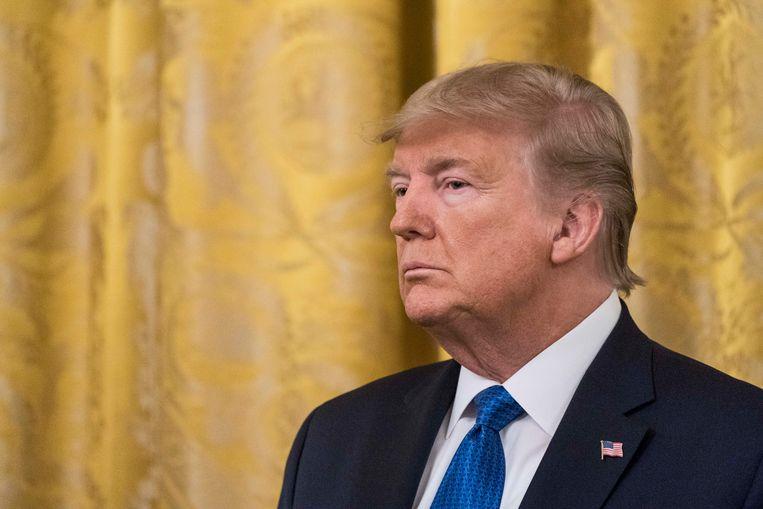 De Amerikaanse president Donald Trump. Beeld Getty Images