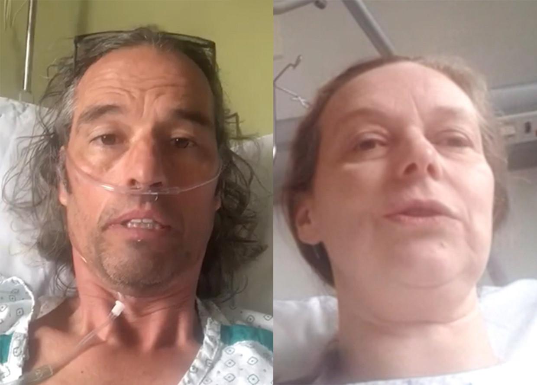 Zeger Garré en Amaryllis Dobbelaere deelden allebei een getuigenis vanop hun ziektebed. Beeld RV