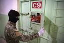 Een Koerdische gevangenis in Syrië waar mannen van de Islamitische Staat opgesloten zitten