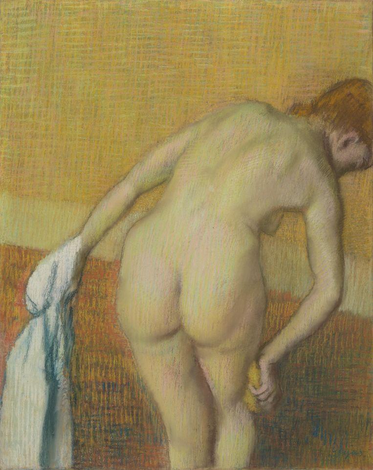 Edgar Degas, Badende vrouw, (ca. 1886) Beeld Van Gogh Museum