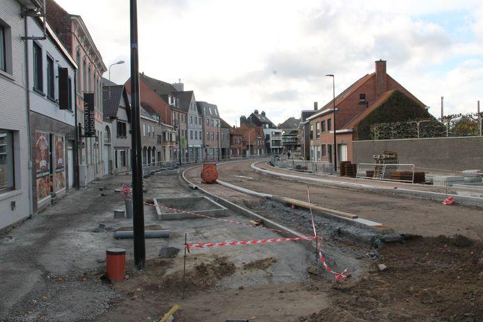 De dorpskernvernieuwing in Oostrozebeke.