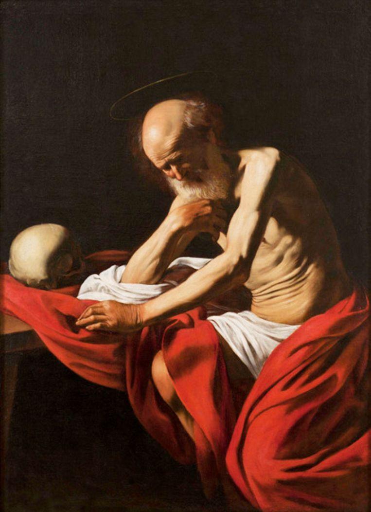 'De heilige Hiëonymus in meditatie' Beeld Caravaggio