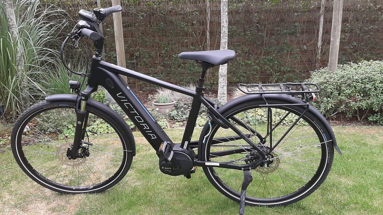 De gestolen elektrische fiets van David Van Schoor uit Oostnieuwkerke.