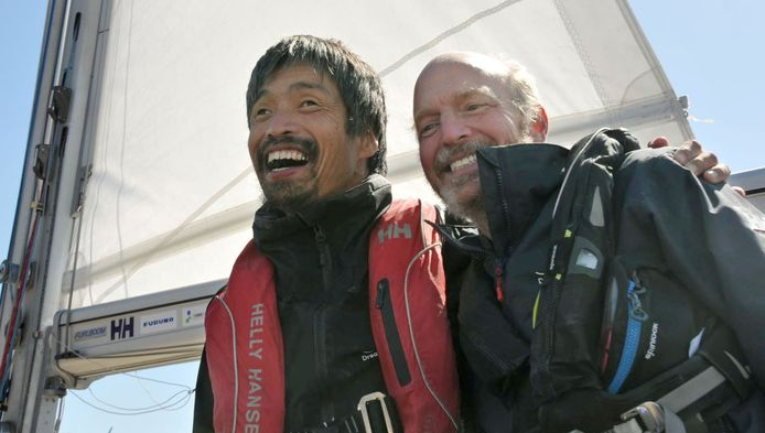 Mitsuhiro Iwamoto et son navigateur Doug Smith.