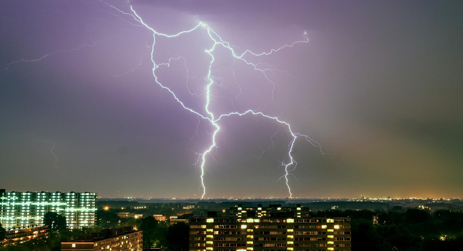 Onweer in de regio.