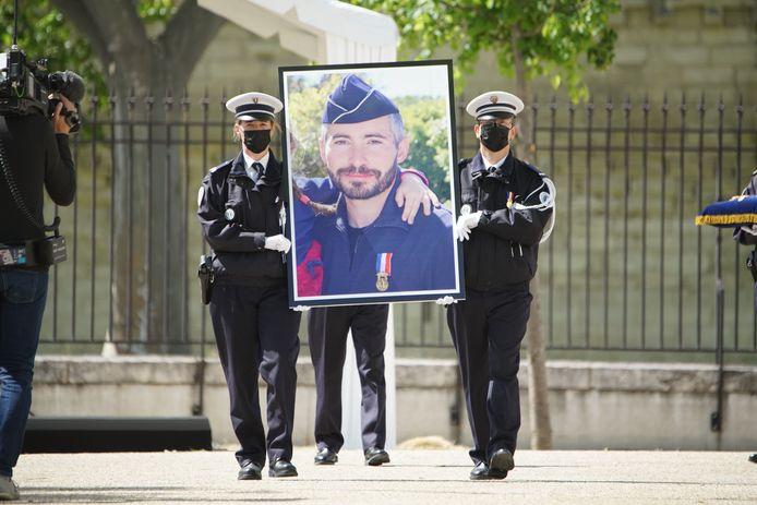 Hommage national à Eric Masson en présence notamment du Premier ministre français Jean Castex à Avignon ce mardi.