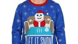 Foute trui van kerstman die cocaïne snuift (even) te koop bij Walmart