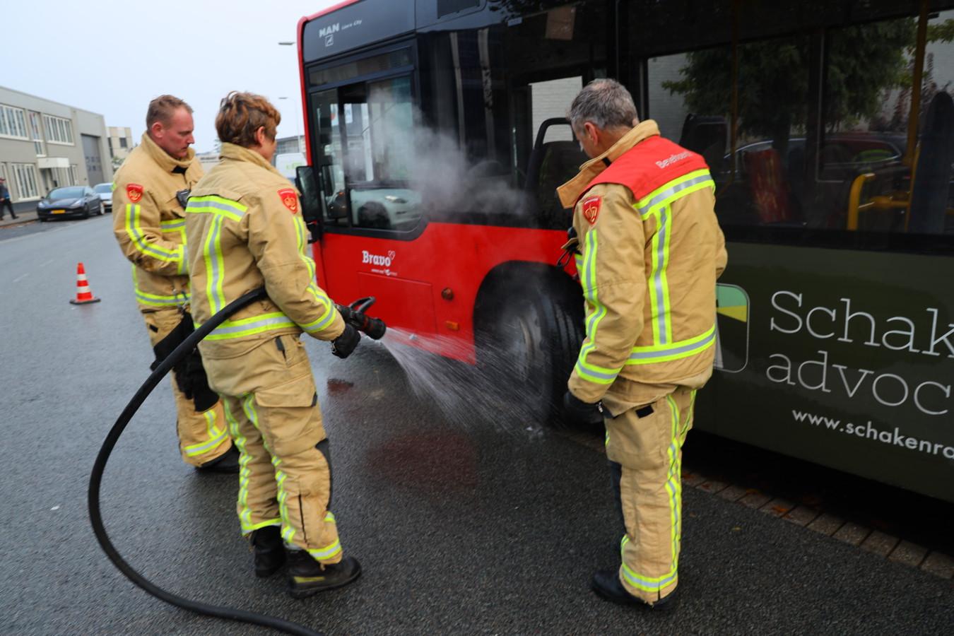 Brand in een bus in Eindhoven.