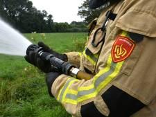 Brand bij sauna in Zuidwolde, veel brandweer aanwezig
