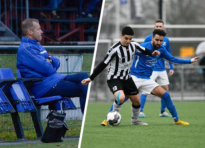 AGOVV trainer Gerrit Brouwer ligt onder vuur. Hakan Soykan (rechts in het blauwe shirt) was geschokt door een appje van zijn trainer.