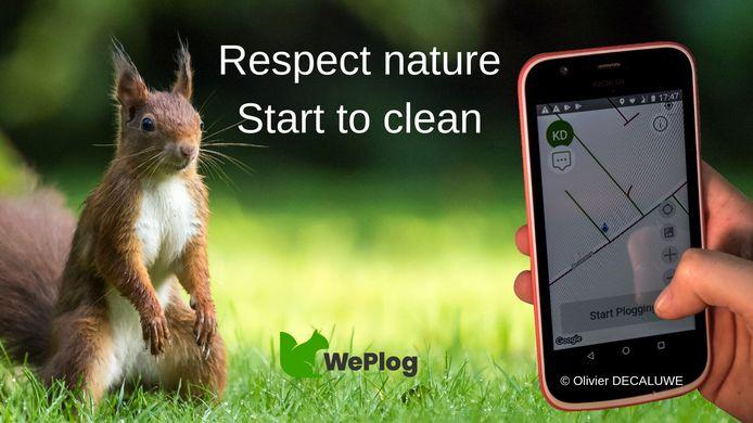De WePlog-app.