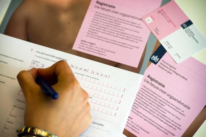Registratieformulier voor donorregistratie
