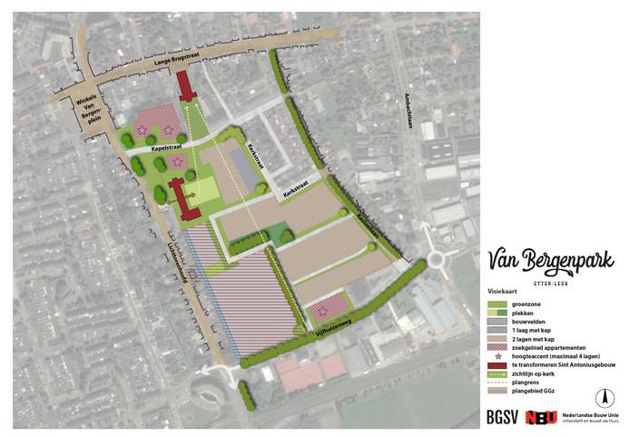 De visiekaart van het project Van Bergenpark.