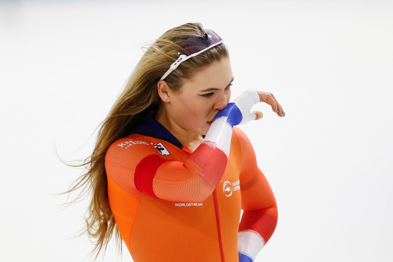 Jutta Leerdam is teleurgesteld over haar 500 meter.