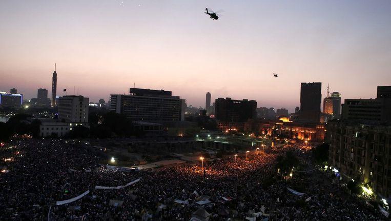 Het Tahrirplein in Egypte. Beeld EPA