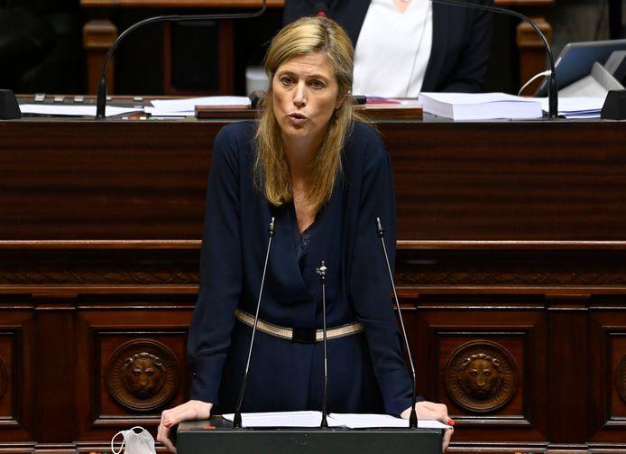 La ministre de l'Intérieur Annelies Verlinden (CD&V) à la Chambre.