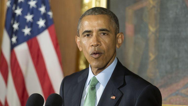 De Amerikaanse president Barack Obama. Beeld getty