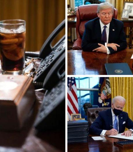 """Joe Biden a retiré le bouton """"Coca-Cola light"""" que Donald Trump avait installé dans le Bureau ovale"""