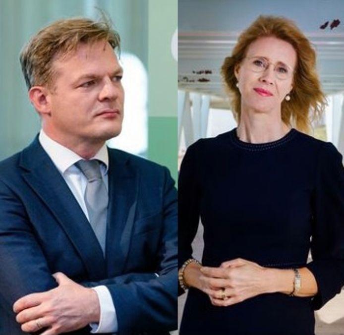 Tweede Kamerlid Pieter Omtzigt en zijn voormalig partijgenoot Mona Keijzer.