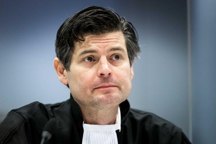 Advocaat Roger Cox van Milieudefensie in de rechtbank tijdens de tweede hoorzitting in de klimaatzaak tegen Shell.