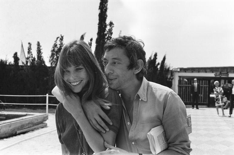 Samen met Serge Gainsbourg, 1970. Beeld Gamma-Rapho via Getty Images