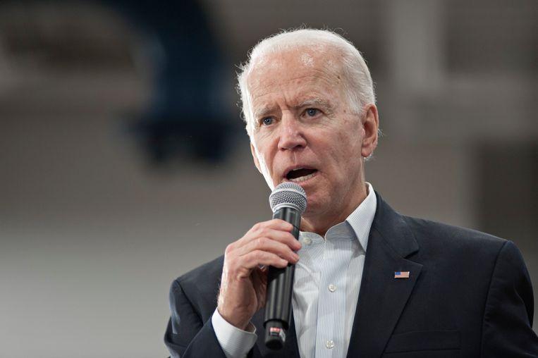 Joe Biden staat voorlopig op de tweede plek.