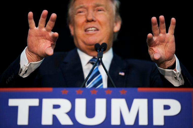 De Republikeinse presidentskandidaat Donald Trump. Beeld AP