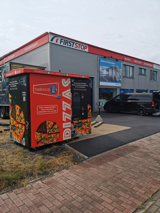 De pizza-automaat in Maldegem.