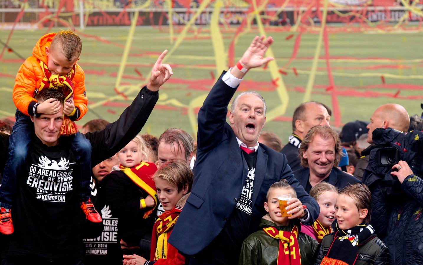 Go Ahead Eagles promoveerde met trainer Hans de Koning naar de eredivisie