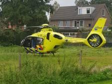 Traumahelikopter rukt uit voor ongeval in Odijk: fietsster ernstig gewond