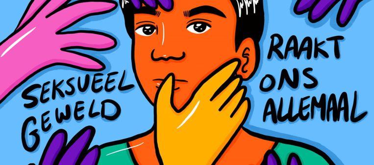 Kunstwerk voor de campagne van de Amsterdamse illustrator Sioejeng Tsao. Beeld Sioejeng Tsao