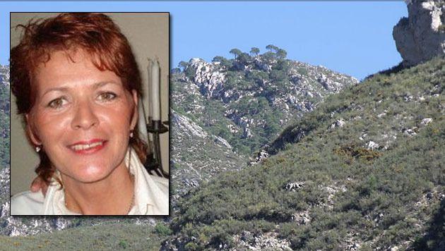 Mary-Anne Goossens zat vast in het onherbergzame gebied rond Frigiliana. © FACEBOOK