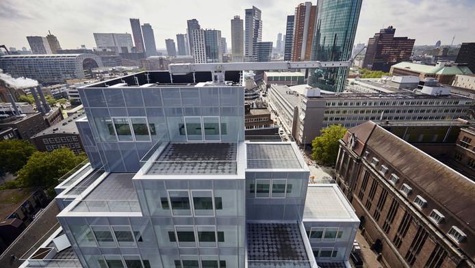 Het Timmerhuis van Rem Koolhaas: na de Markthal heeft Rotterdam er een nieuwe, curieuze toevoeging bij.