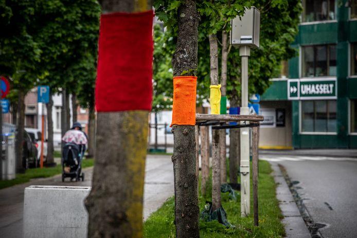 De Groene Boulevard is dan weer even een Regenboog Boulevard geworden.