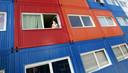 Worden wooncontainers - zoals hier in Amsterdam - de toekomst in Oost-Nederland?