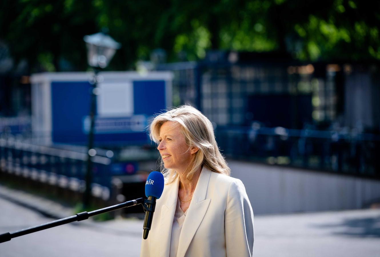 Demissionair Minister Kajsa Ollongren van Binnenlandse Zaken en Koninkrijksrelaties (D66).