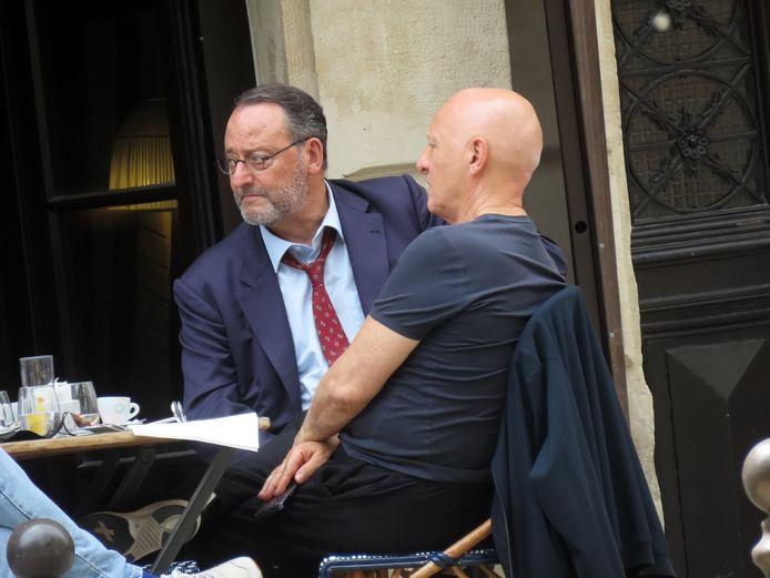 Jean Reno (links) komt naar Brugge voor de opnames van een nieuwe tv-serie. Eerder was de crew al aanwezig in Parijs.