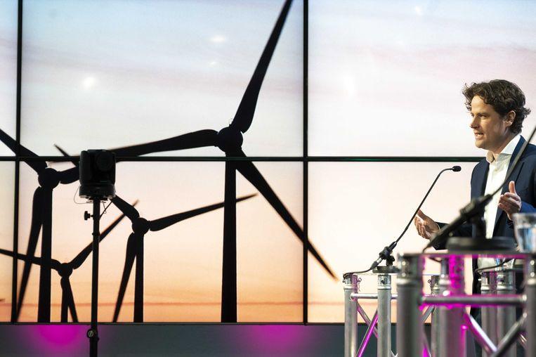 Henri Bontenbal tijdens een verkiezingsdebat over het klimaat in februari. Beeld ANP