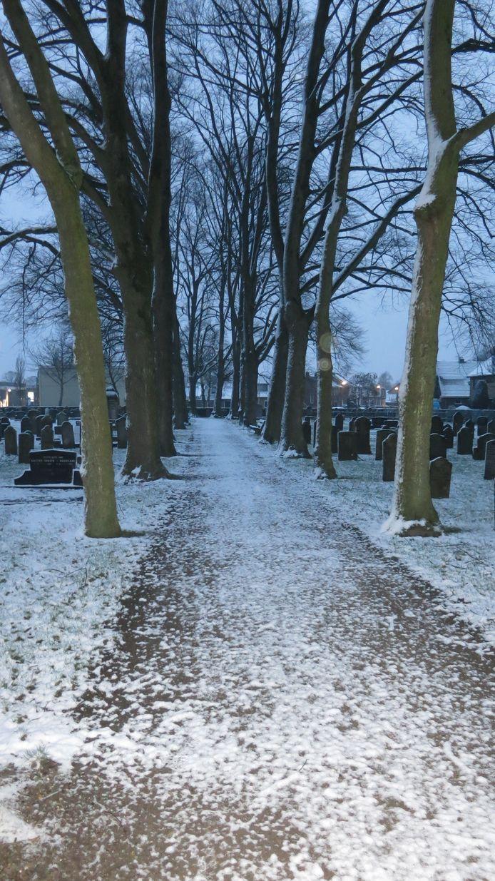 De oude begraafplaats te Den Ham.