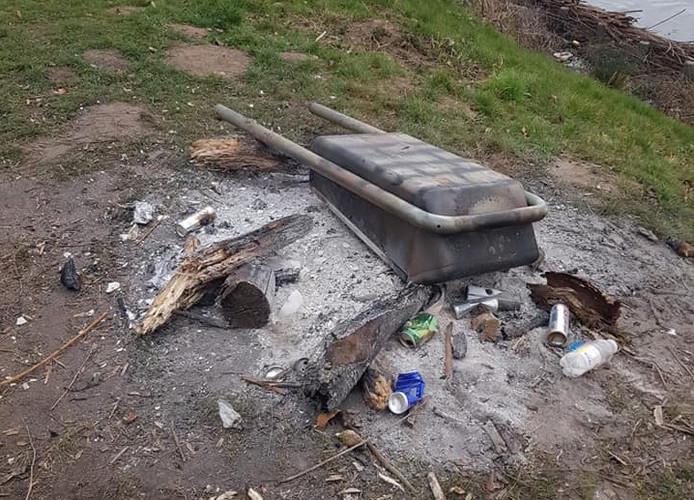 Vernielingen in de natuurtuin in Leerdam.