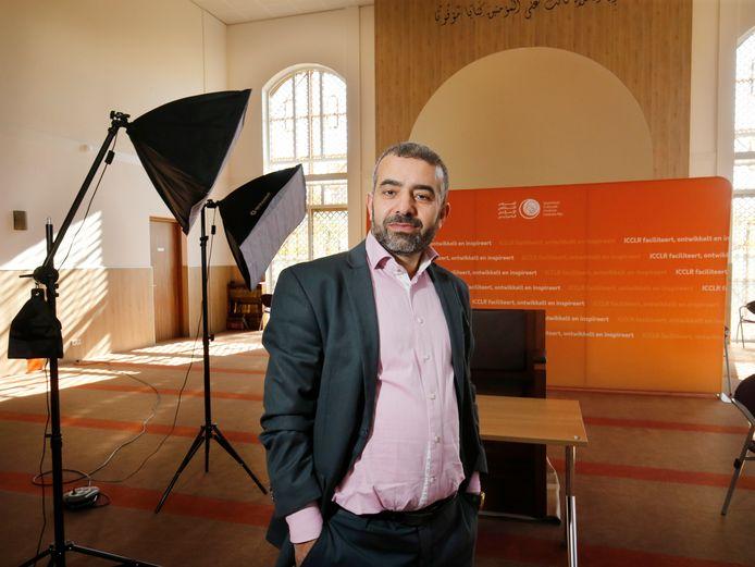 Abdelkader el Yandouzi in het Islamitisch Cultureel Centrum Leidsche Rijn.