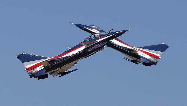 Foto ter illustratie: Twee straaljagers van het Chinese leger.