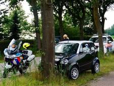 Man gewond na botsing tegen boom met 45 km-auto in Haghorst