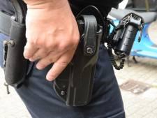 Politie achtervolgt, worstelt en lost waarschuwingsschot voor aanhouding