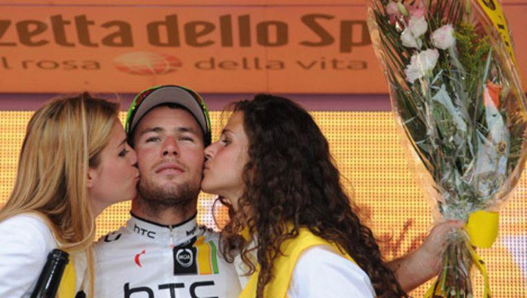 Cavendish won afgelopen dinsdag ook de tiende etappe van de Giro. © epa Beeld