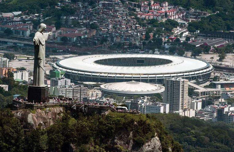 Het Maracana stadium in Rio de Janeiro gaat gebruikt worden tijdens het WK en de Olympische Spelen Beeld ap