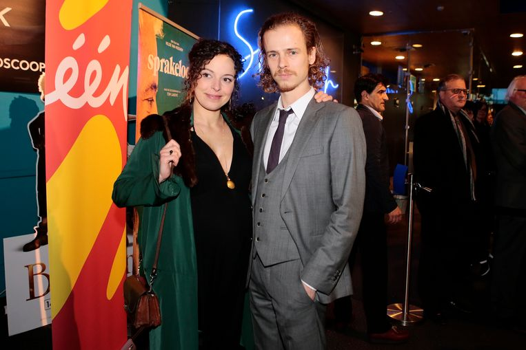 Marie Vinck met haar partner Stef Aerts.