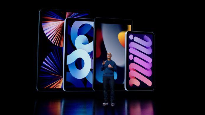 Tim Cook a également présenté les nouveaux iPad et iPad mini.